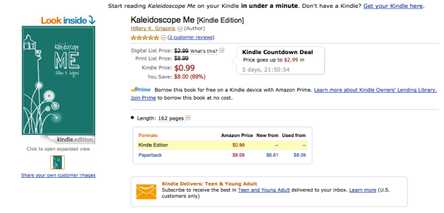 99 cent Kindle book